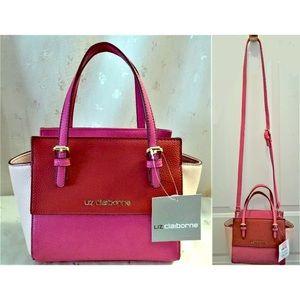 Liz claiborne LC Jacqueline mini pink satchel